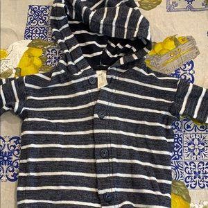 H&M 9-12 mo Button down hoodie